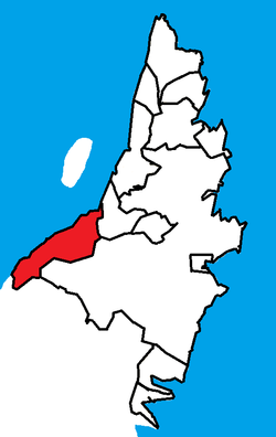 Location of Conception Bay South (red) in the St. John's Metropolitan Area.