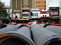 Concrete pipes next to George Street Sydney March 2017.jpg