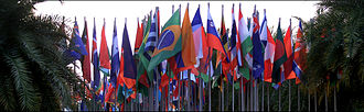 Conference of the parties - Flags at the 2012 Hyderabad Biodiversity Conference