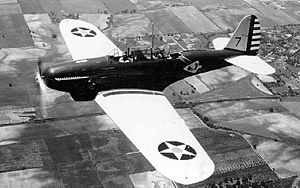 Consolidated P-30 (PB-2) in flight 060907-F-1234P-007.jpg