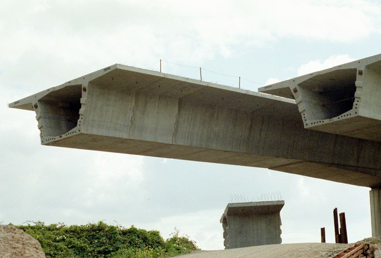 Construction of the Grangetown Link Road viaduct
