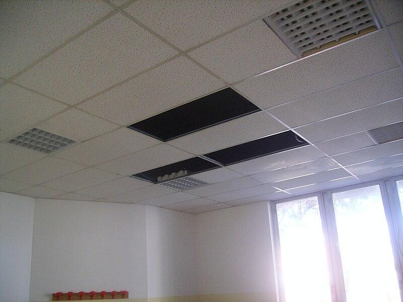 File controsoffitto foscolo albano jpg wikimedia commons - Abbassare il soffitto ...