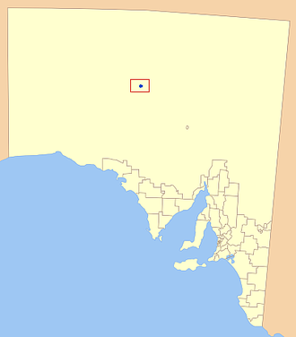 District Council of Coober Pedy - Location of the District Council of Coober Pedy in blue