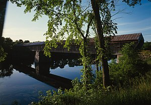 Windsor, Vermont - Cornish–Windsor Covered Bridge, built in 1866, rebuilt in 1988
