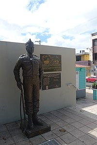 statue in downtown Corozal