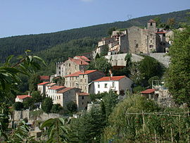 A general view of the village of Corsavy