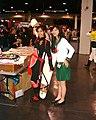 Cosplayers of Sango and Kagome Higurashi at Anime Expo 2003-07.jpg