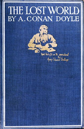 The cover page of the 1912 novel The Lost World Cover (The Lost World, 1912).jpg