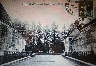 Avoine, Orne - The chateau in Avoine in the early 20th century