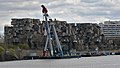 Crane Ship in front of Habitat 67 - Montreal, Quebec 2019-05-11.jpg