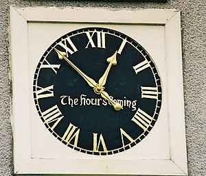 Crimond clock, with 61 minutes