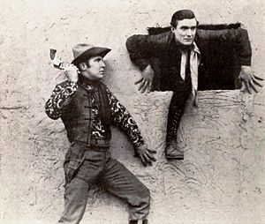 Monte Montague - Monte Montague and Ray Gallagher in a 1921 western short film