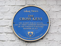 Photo of Cross Keys blue plaque