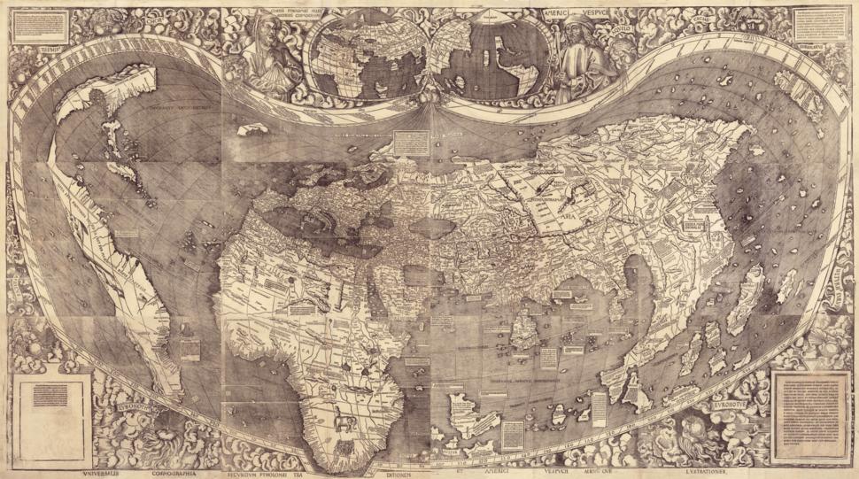 Ct000725C-wh012 5-Universalis cosmographia secundum Ptholomaei traditionem et Americi Vespucii alioru-m-que lustrationes.