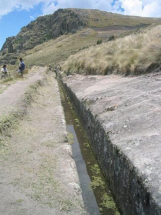 Cumbemayo - Partial view of aqueduct at Cumbemayo.