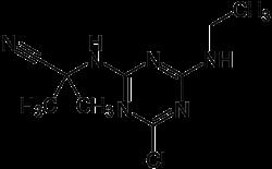 Strukturformel von Cyanazin