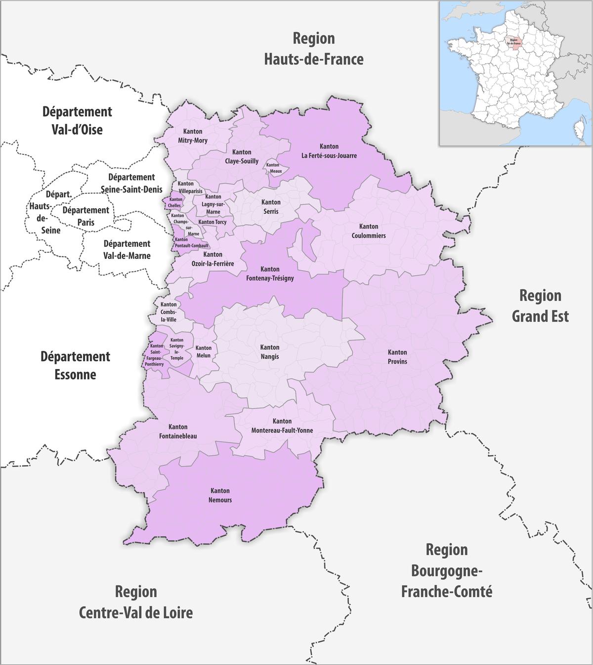 Liste der kantone im d partement seine et marne wikipedia - Pisciniste seine et marne ...