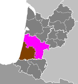 Arrondissement of Mont-de-Marsan - Image: Département des Landes Arrondissement de Mont de Marsan