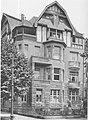 Düsseldorf Herderstraße 59, von Architekt W. May, Die Architektur des XX. Jahrhunderts - Zeitschrift für moderne Baukunst. Jahrgang 1909, 58.jpg