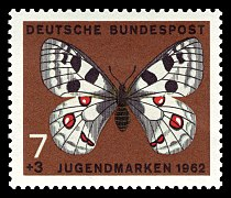 DBP 1962 376 Jugend Schmetterlinge.jpg