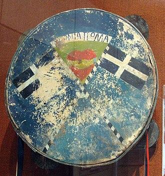 Museum of Greek Folk Musical Instruments - Image: DEFI (tambourine), Museum of Greek Folk Musical Instruments