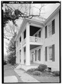 DETAIL OF WEST PORCH - Cherry Mansion, 101 Main Street, Savannah, Hardin County, TN HABS TENN,36-PITLA.V,1-8.tif