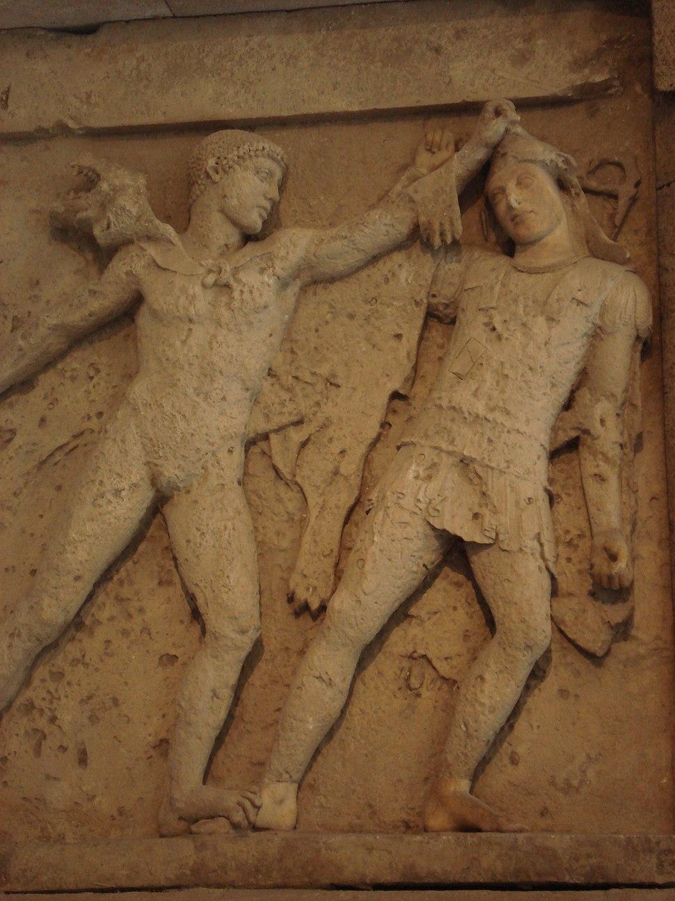DSC00409 - Tempio E di Selinunte - Eracle ed Amazzone - Ca. 450 a.C. - Foto G. Dall'Orto