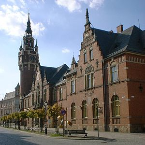 Dahme, Brandenburg - Town hall and post office