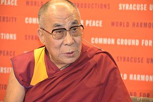 Tibetan independence movement - Image: Dalai Lama at Syracuse University 01
