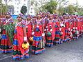 Dancers wearing traditional dress of the Banjara Lamadi or Lambani tribe in Andhra Pradesh DSCF7370 (7).JPG