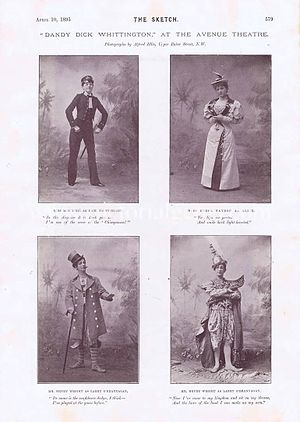 Dandy Dick Whittington - Some of the principal cast of Dandy Dick Whittington