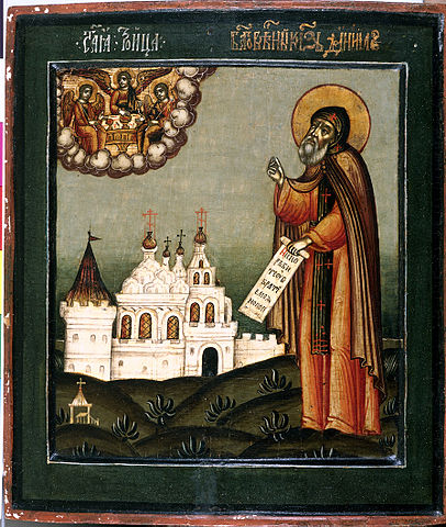 Святой князь Даниил Московский. Икона рубежа XVII—XVIII веков