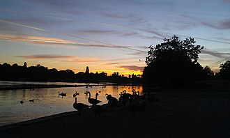 Danson Park - Danson Lake, a prominent feature of the park.