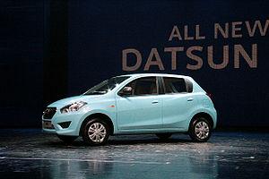 Datsun Go - Image: Datsun Go Launch New Delhi India July 15 2013 Picture by Bertel Schmitt 4