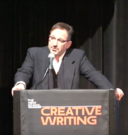 David Biespiel speaking at the New School in New York, March 2016.png