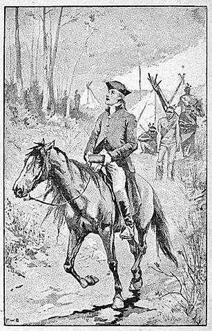 말을 타고 인디언들을 찾아다니며 복음을 전하는 브레이너드의 모습