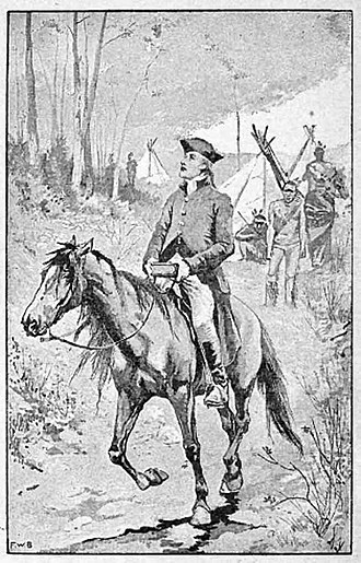 David Brainerd - David Brainerd on horseback. He travelled over 3000 miles on horseback as a missionary.
