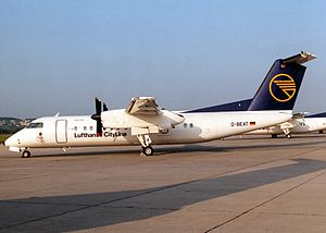 Lufthansa CityLine Flight 5634 - D-BEAT, The aircraft involved in the accident seen in Stuttgart Airport in May 1992.