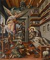 Death of Saint Francis of Assisi flemish 16th century.jpg