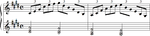 Debussy Premiere Arabesque melody and chords.png