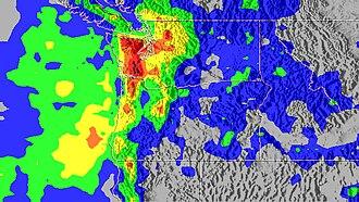 Great Coastal Gale of 2007 - Image: Dec 2007 PNW rainfall
