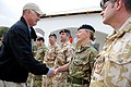 Defense.gov News Photo 101028-D-7203C-005 - Deputy Secretary of Defense William J. Lynn III shakes hands with British soldiers while visiting the Provincial Reconstruction Team in Lashkar Gah.jpg