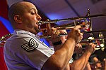 Defense.gov News Photo 110816-Z-AL508-002 F669 - Air Force Trombonist Tech. Sgt. Jeremy Grant of the United States Air Force Band of Liberty performs at the reception for the 2011 Atlantic City.jpg