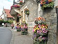 Delightful floral displays outside Lynton Town Hall - geograph.org.uk - 937221.jpg