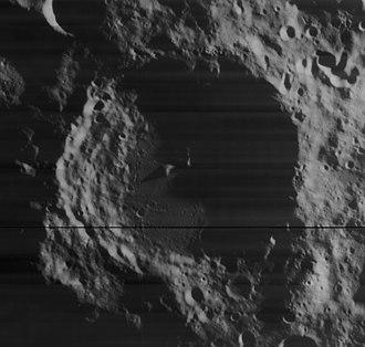 Demonax (crater) - Mosaic of Lunar Orbiter 4 images