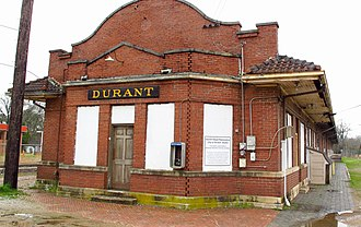 Durant, Mississippi - Train station in Durant