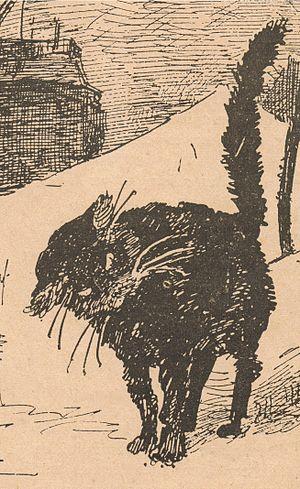 Le Chat Noir - Detail from LE CHAT NOIR journal, number 152, 6 Decembre 1884.