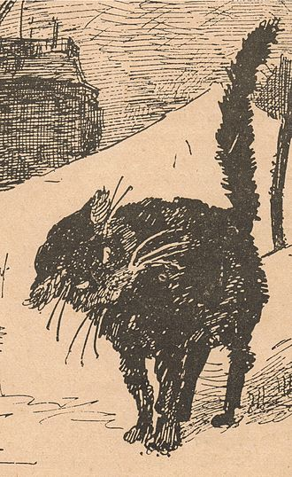 Le Chat Noir - Detail from LE CHAT NOIR journal, number 152, 6 Decembre 1884.