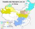 Dialekte des Mandarin und Jin in China.png
