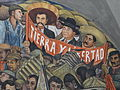 Category murals by diego rivera in the palacio nacional for Emiliano zapata mural